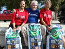 Brian and Gloria Davies deliver cat supplies