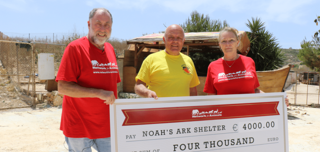 NFA has donated $4500.00 to Noah's Ark dog shelter in Malta 1